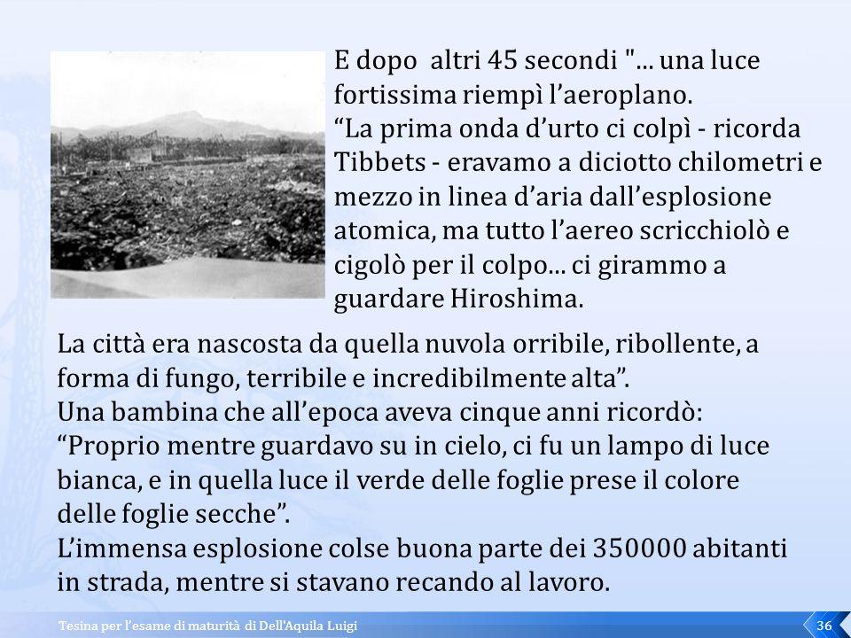 Tesina per l'esame di maturità di Dell Aquila Luigi35 I tempi non erano ancora maturi.