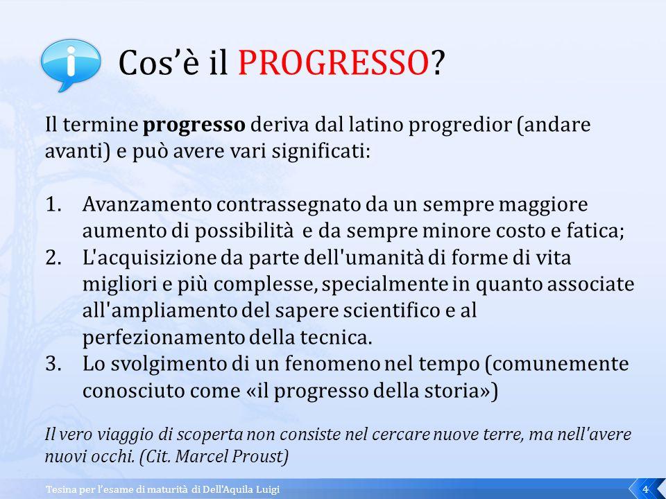 IL PROGRESSO E LE NUOVE TECNOLOGIE...ITALIANO Il pessimismo storico: La storia non è progresso.