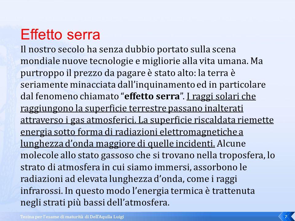 Tesina per l'esame di maturità di Dell Aquila Luigi6 E' possibile capire facilmente se lo sviluppo di una società procede in senso positivo o negativo, ma come.