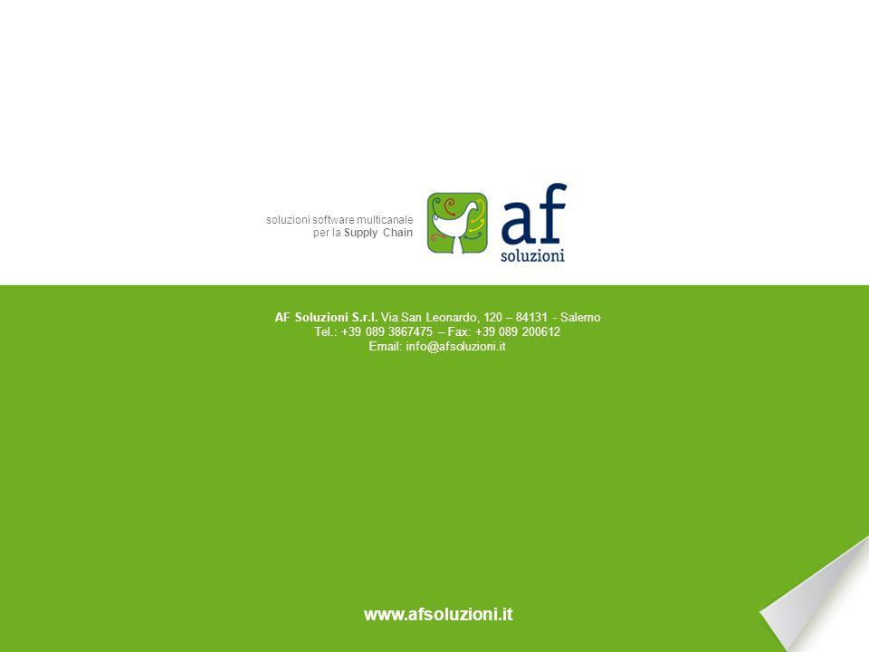 AF Soluzioni S.r.l. La Gestione degli Ordini
