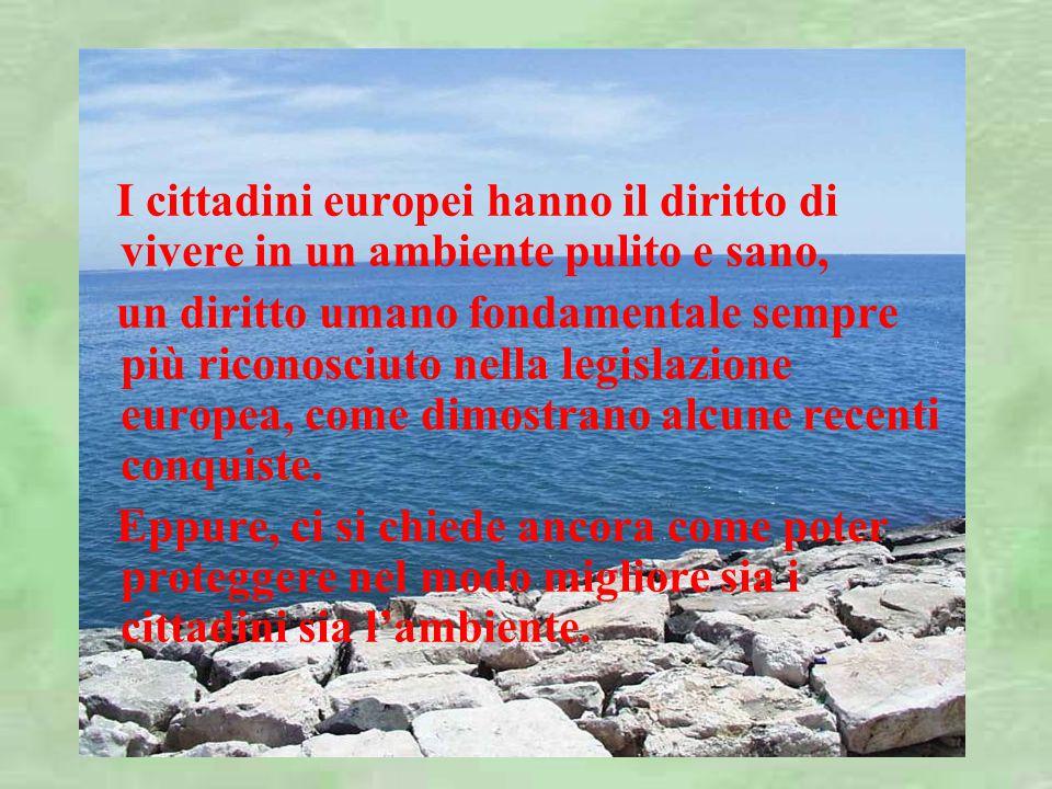 I cittadini europei hanno il diritto di vivere in un ambiente pulito e sano, un diritto umano fondamentale sempre più riconosciuto nella legislazione europea, come dimostrano alcune recenti conquiste.