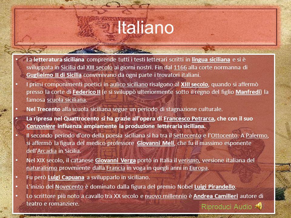 Geografia La Sicilia è l'isola più grande di tutto il Mar Mediterraneo, prima regione italiana per superficie. Ha una forma triangolare ed è separata