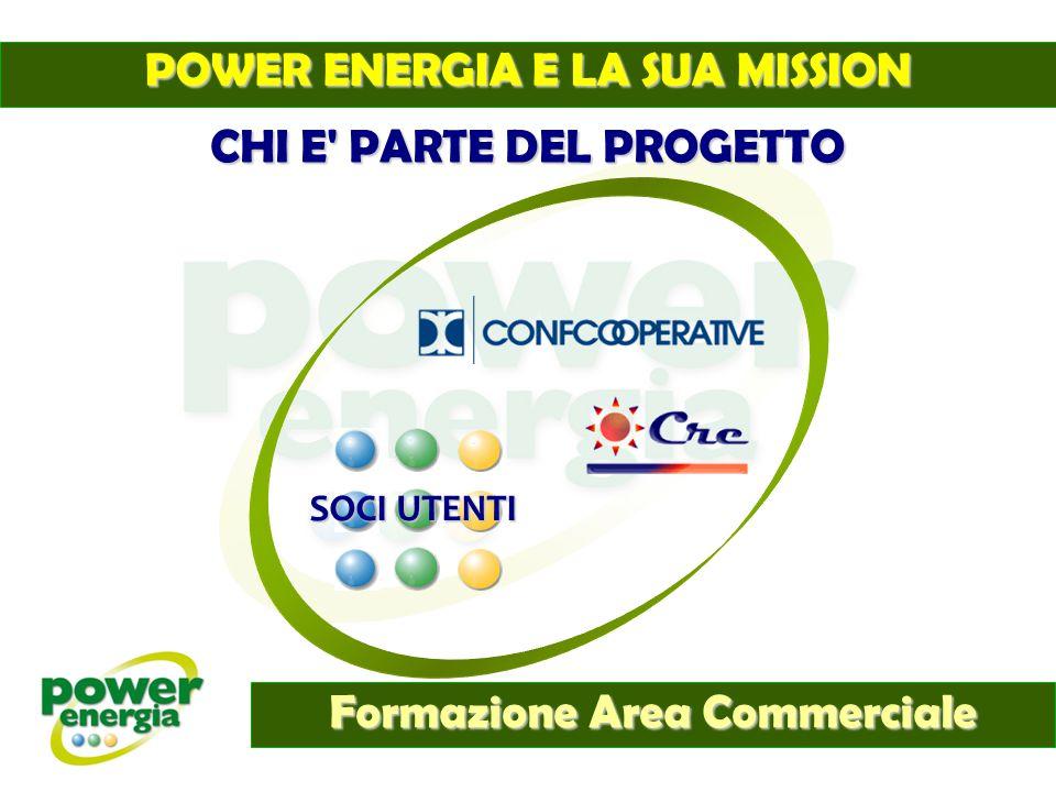 Formazione Area Commerciale Ad oggi la forma cooperativa è in Italia tra le più diffuse e le più prolifiche strutture societarie il bacino di utenza legato alle confcooperative che partecipano al progetto Power Energia nelle varie regioni italiane non è ancora stato messo a conoscenza di questa opportunità.