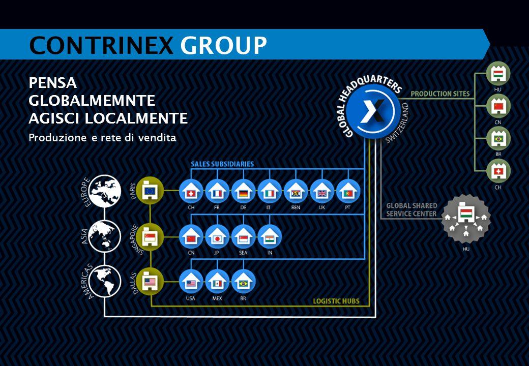 PENSA GLOBALMEMNTE AGISCI LOCALMENTE Produzione e rete di vendita CONTRINEX GROUP
