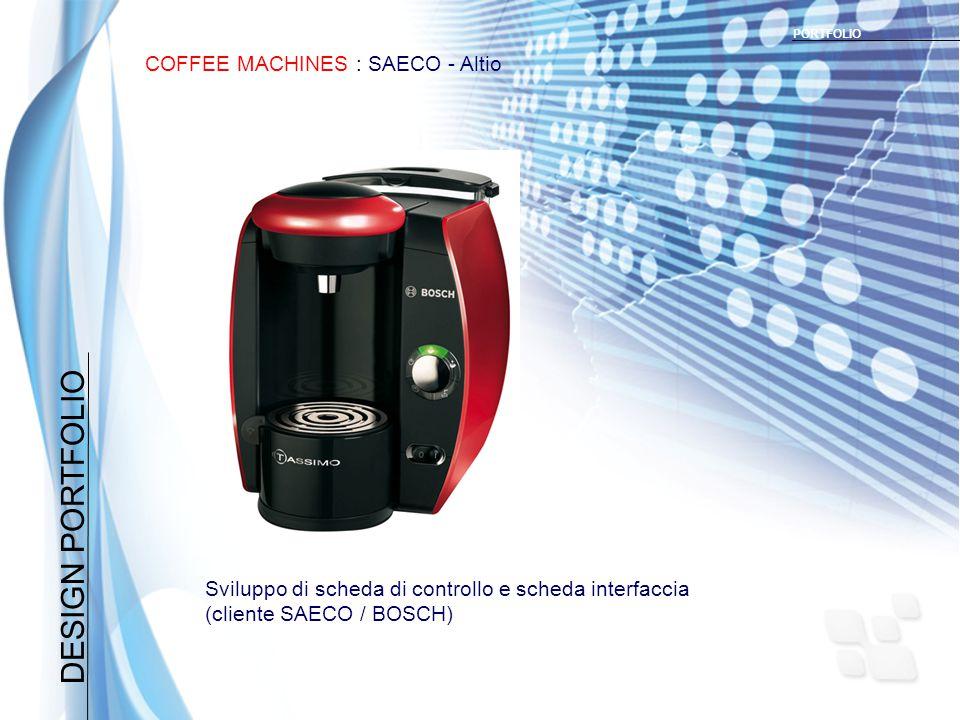 DESIGN PORTFOLIO COFFEE MACHINES : SAECO - Altio PORTFOLIO Sviluppo di scheda di controllo e scheda interfaccia (cliente SAECO / BOSCH)