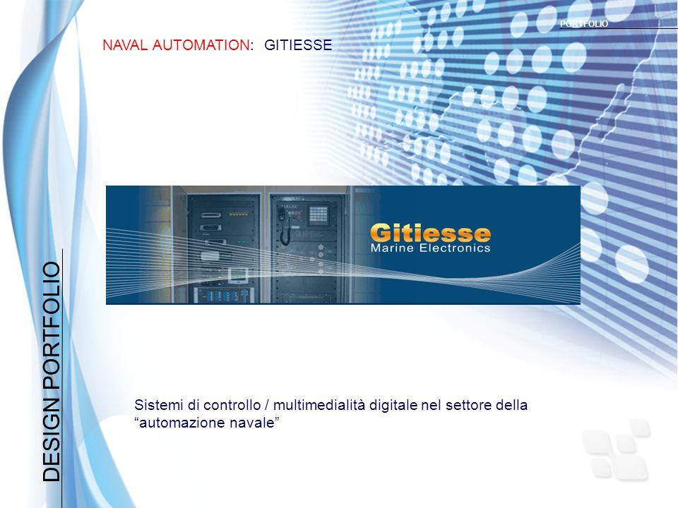 DESIGN PORTFOLIO NAVAL AUTOMATION: GITIESSE PORTFOLIO Sistemi di controllo / multimedialità digitale nel settore della automazione navale