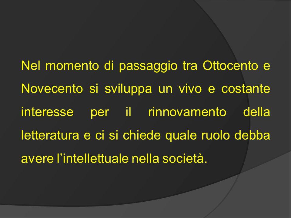 Manifesto tecnico della letteratura futurista Bisogna distruggere la sintassi disponendo i sostantivi a caso, come nascono.