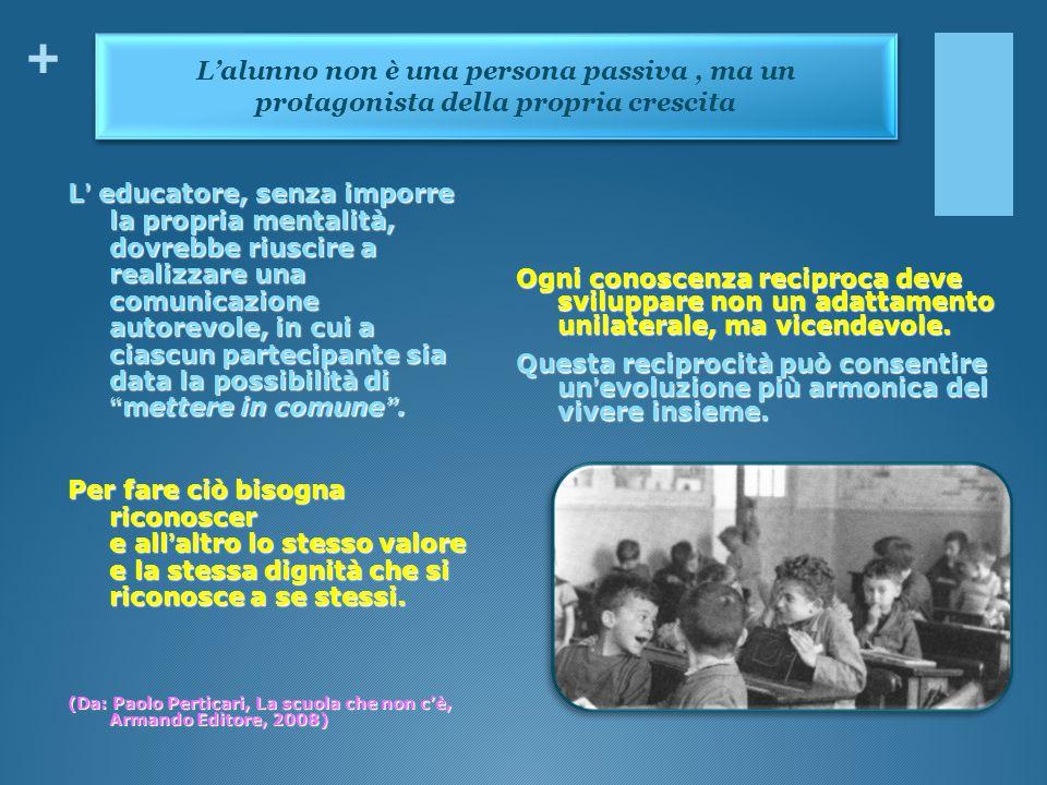 + Ogni conoscenza reciproca deve sviluppare non un adattamento unilaterale, ma vicendevole. Questa reciprocità può consentire un'evoluzione più armoni