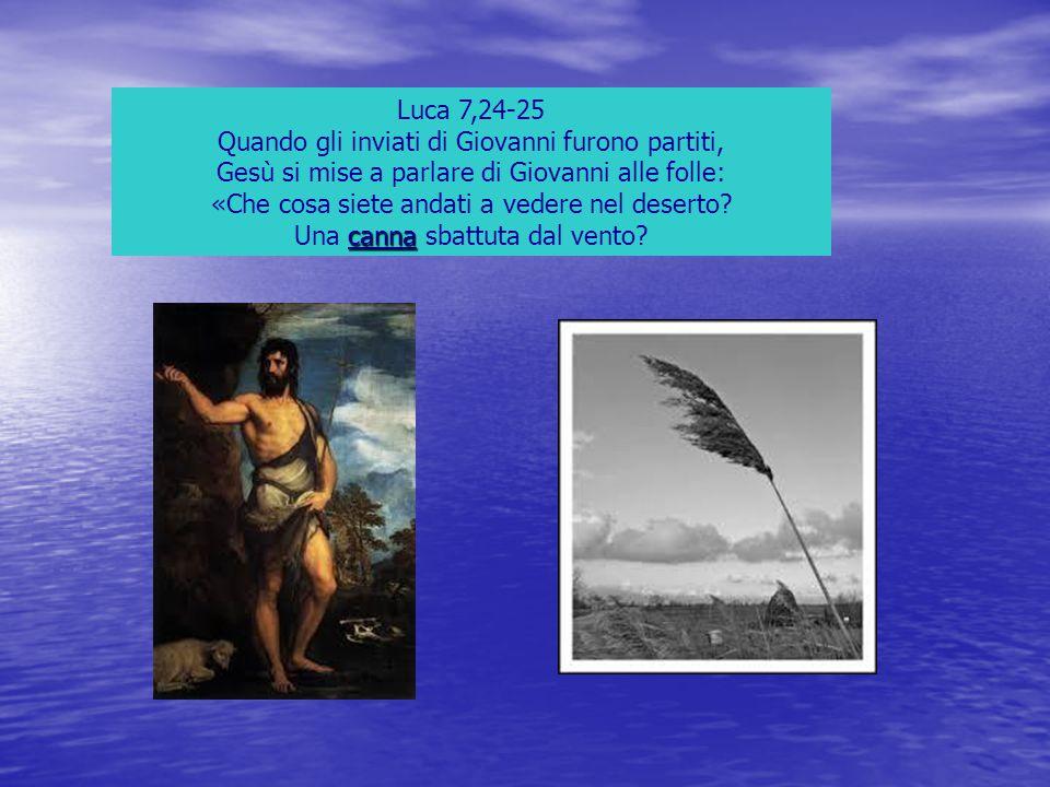 Luca 7,24-25 Quando gli inviati di Giovanni furono partiti, Gesù si mise a parlare di Giovanni alle folle: «Che cosa siete andati a vedere nel deserto