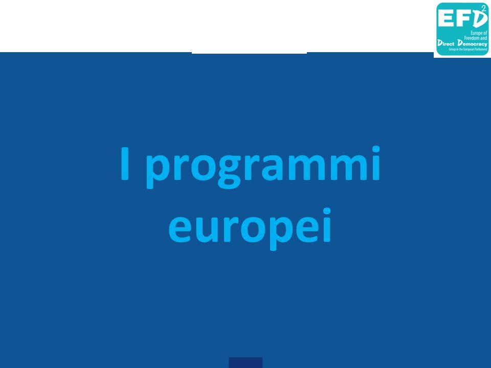 I programmi europei