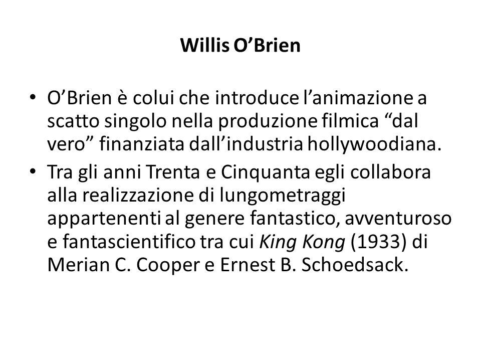 """Willis O'Brien O'Brien è colui che introduce l'animazione a scatto singolo nella produzione filmica """"dal vero"""" finanziata dall'industria hollywoodiana"""
