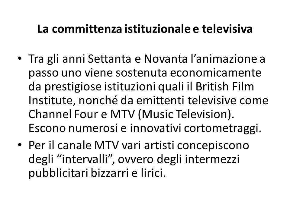La committenza istituzionale e televisiva Tra gli anni Settanta e Novanta l'animazione a passo uno viene sostenuta economicamente da prestigiose istit
