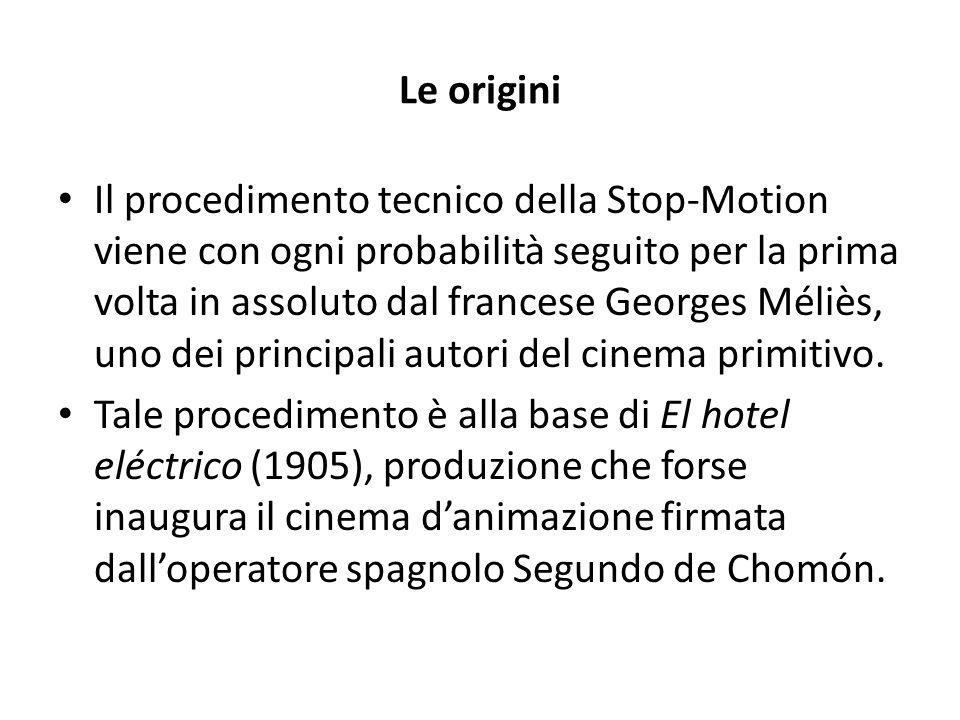Le origini Il procedimento tecnico della Stop-Motion viene con ogni probabilità seguito per la prima volta in assoluto dal francese Georges Méliès, un