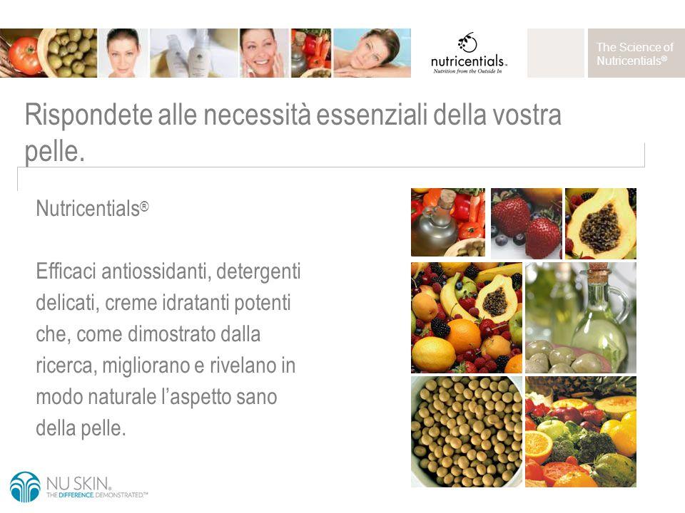 The Science of Nutricentials ® Rispondete alle necessità essenziali della vostra pelle.