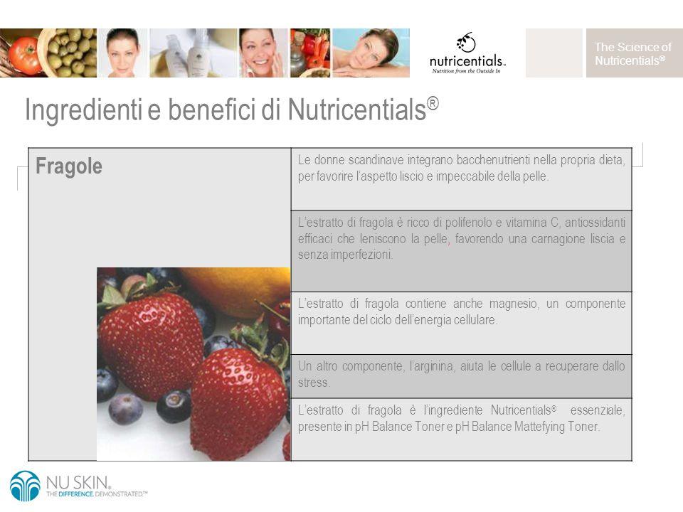The Science of Nutricentials ® Fragole Le donne scandinave integrano bacchenutrienti nella propria dieta, per favorire l'aspetto liscio e impeccabile della pelle.