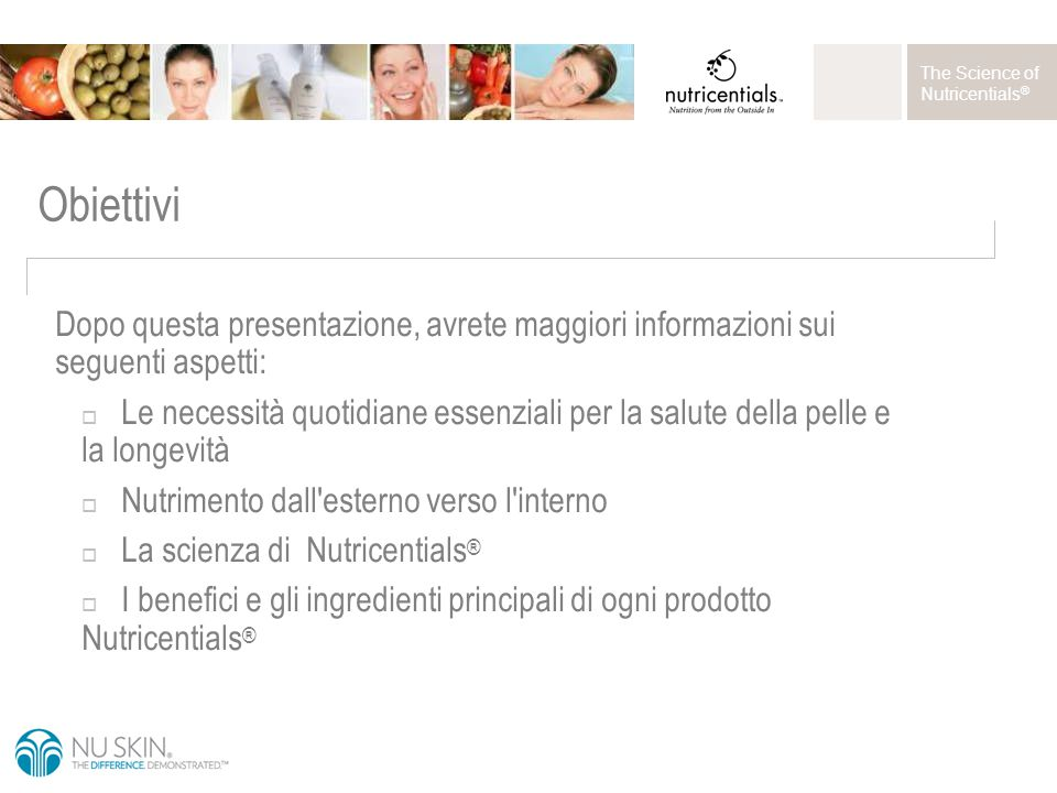 The Science of Nutricentials ® Prodotti Nutricentials ®