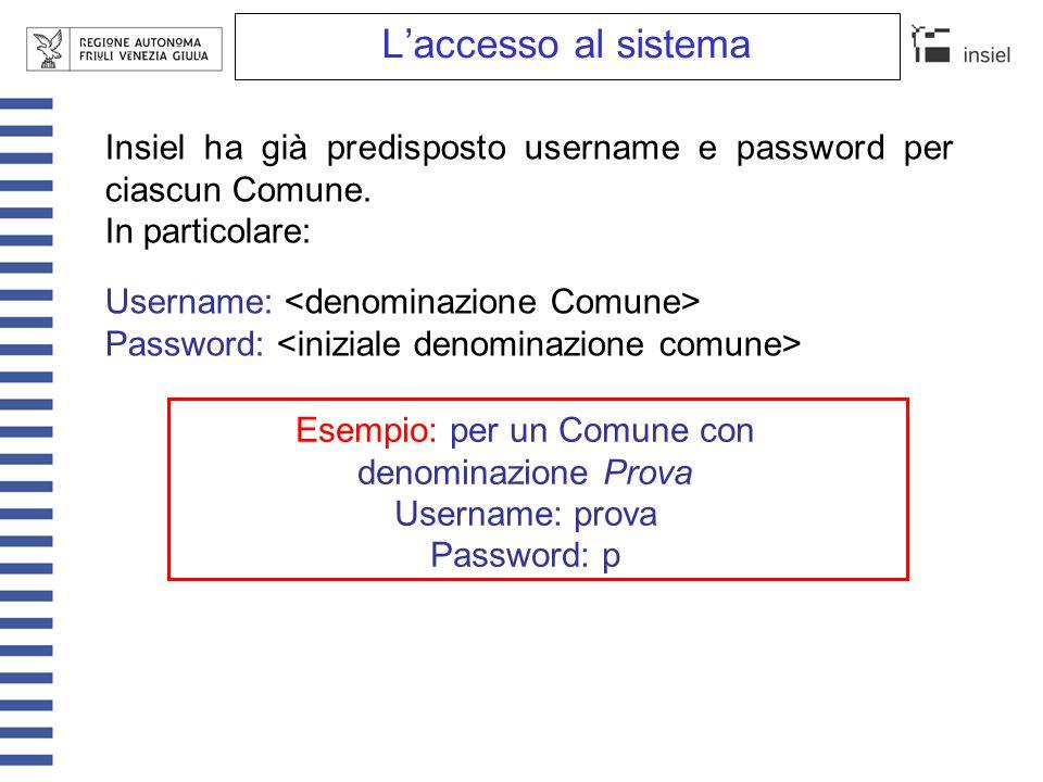 L'accesso al sistema Per l'accesso della polizia municipale: Username: pm+ Password: Si consiglia comunque di utilizzare la funzionalità Cambia password messa a disposizione nella sezione Utilità - Servizi del menu delle funzioni, in modo da evitare l'accesso ai dati inseriti da parte di utenti non autorizzati.
