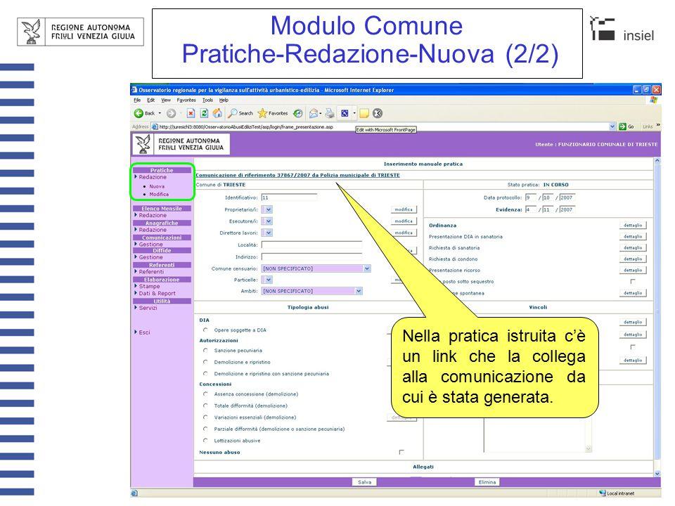 Modulo Comune Pratiche-Redazione Tipologia abusi (dettaglio)