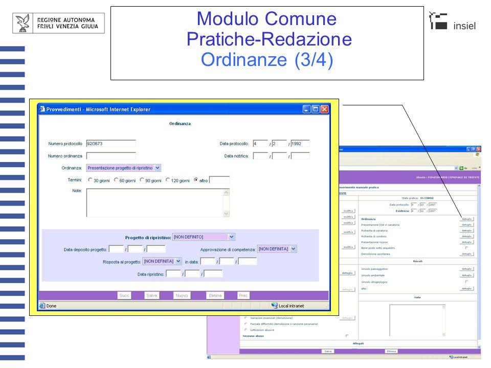 Modulo Comune Pratiche-Redazione Ordinanze (4/4)