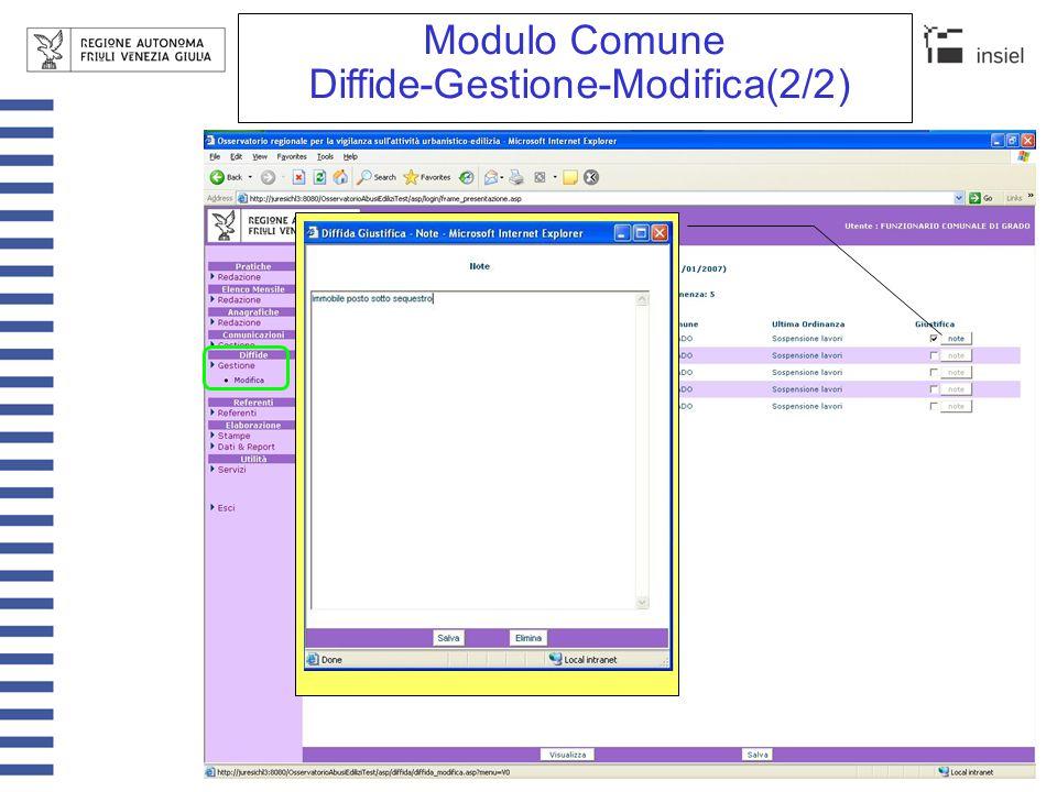 Funzionalità comuni nei moduli
