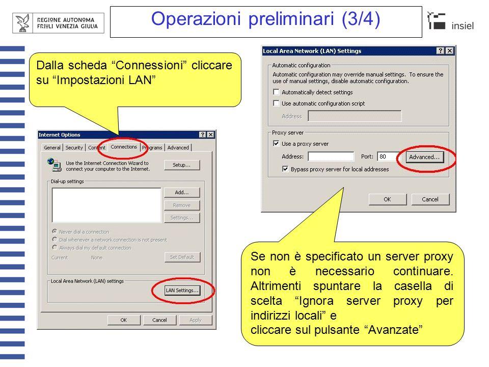 Operazioni preliminari (4/4) Inserire fra le eccezioni quanto segue: 192.168.26.*;servizistatistici