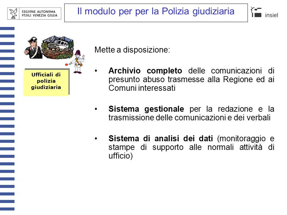 Il modulo per il Comune Mette a disposizione: Archivio completo delle pratiche comunali inerenti le comunicazioni inviate alla Regione e il loro iter.