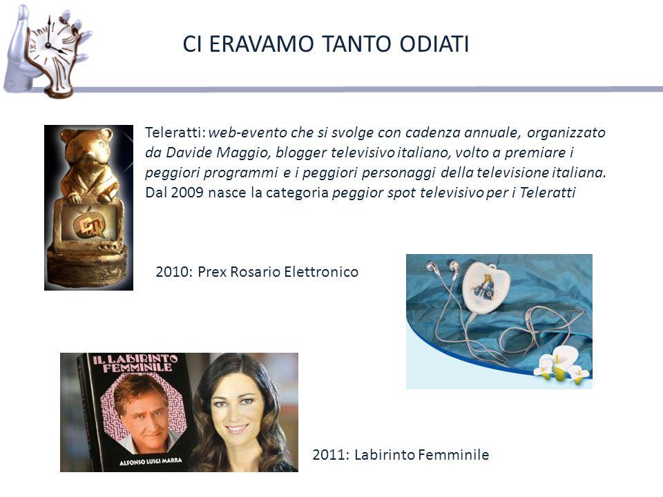 Teleratti: web-evento che si svolge con cadenza annuale, organizzato da Davide Maggio, blogger televisivo italiano, volto a premiare i peggiori progra