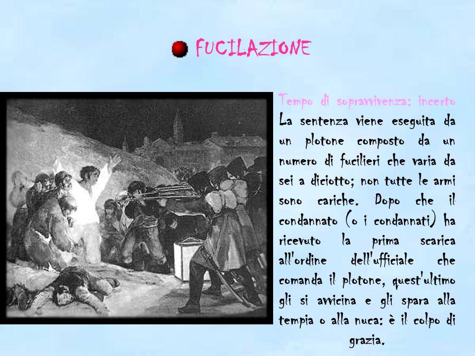 Tempo di sopravvivenza: 1-2 minuti Macchina per decapitazione, così chiamata dal nome del fisico francese Joseph-Ignace de Guillotin, che ne propose l adozione nel 1789.