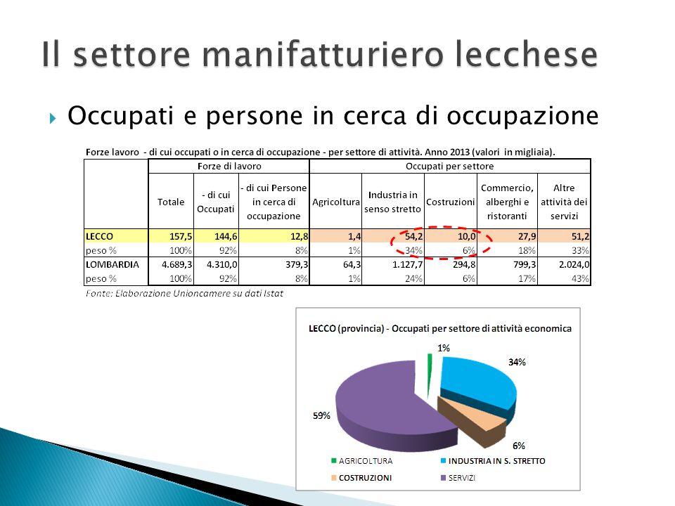  Oltre il 98% delle esportazioni totali lecchesi è rappresentato da scambi delle imprese manifatturiere ed è diretto in prevalenza in Europa