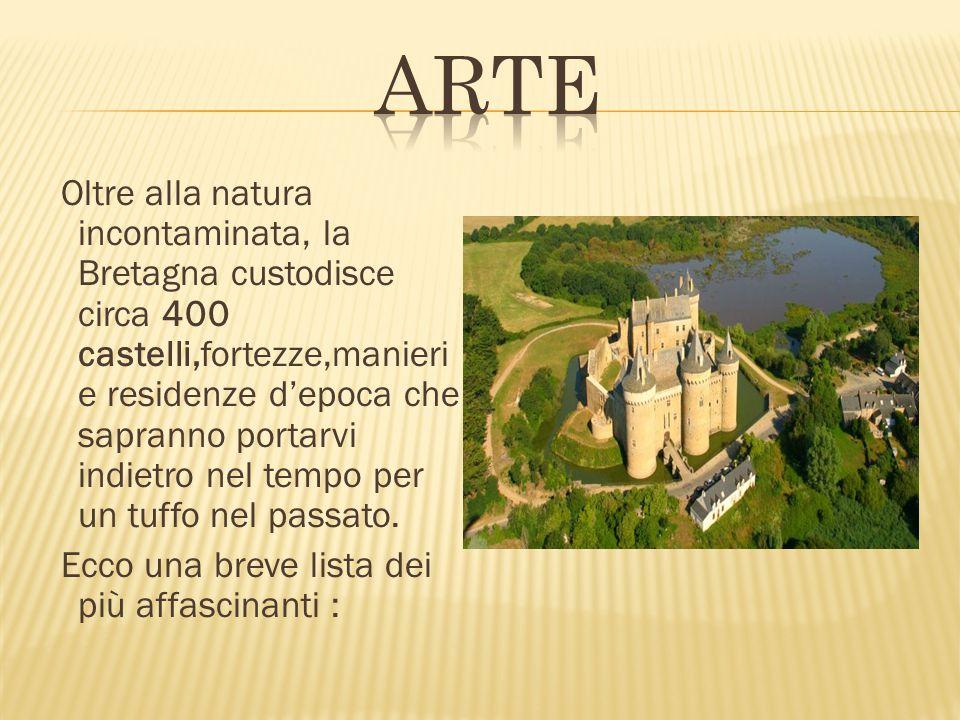 Oltre alla natura incontaminata, la Bretagna custodisce circa 400 castelli,fortezze,manieri e residenze d'epoca che sapranno portarvi indietro nel tem