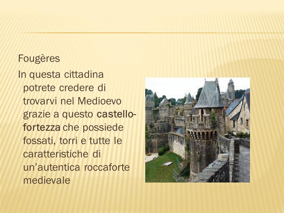 Fougères In questa cittadina potrete credere di trovarvi nel Medioevo grazie a questo castello- fortezza che possiede fossati, torri e tutte le caratt