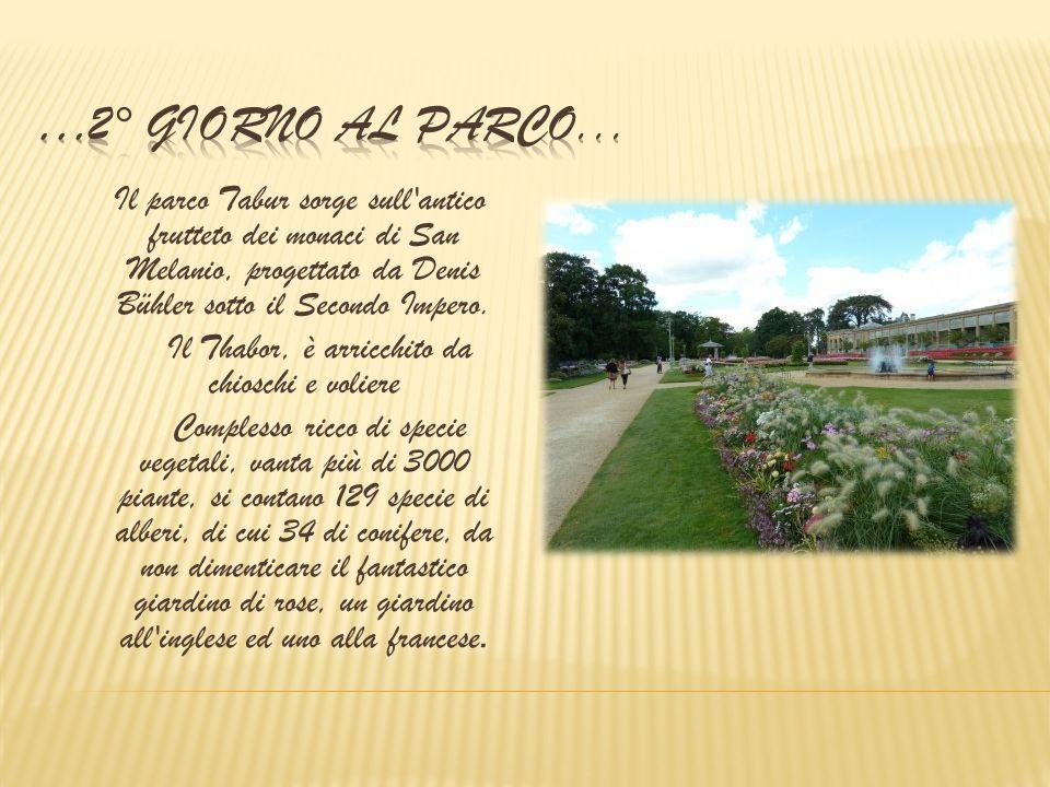 Il parco Tabur sorge sull'antico frutteto dei monaci di San Melanio, progettato da Denis Bühler sotto il Secondo Impero. Il Thabor, è arricchito da ch