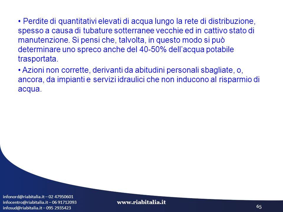 infonord@riabitalia.it – 02 47950601 infocentro@riabitalia.it – 06 91712093 infosud@riabitalia.it – 095 2935423 www.riabitalia.it 65 Perdite di quanti
