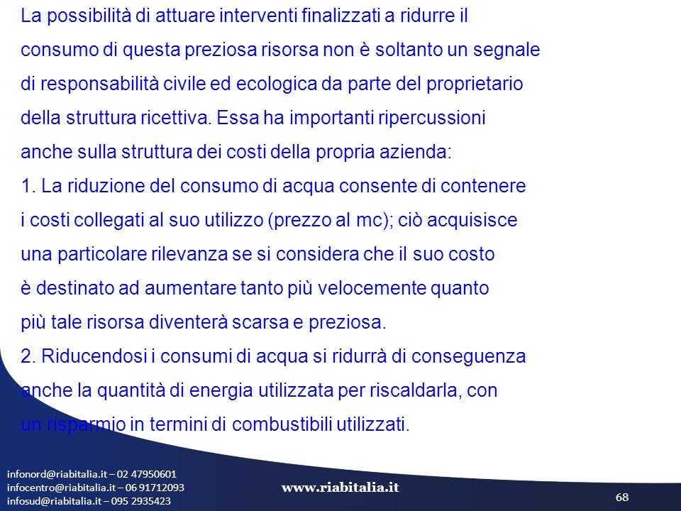 infonord@riabitalia.it – 02 47950601 infocentro@riabitalia.it – 06 91712093 infosud@riabitalia.it – 095 2935423 www.riabitalia.it 68 La possibilità di
