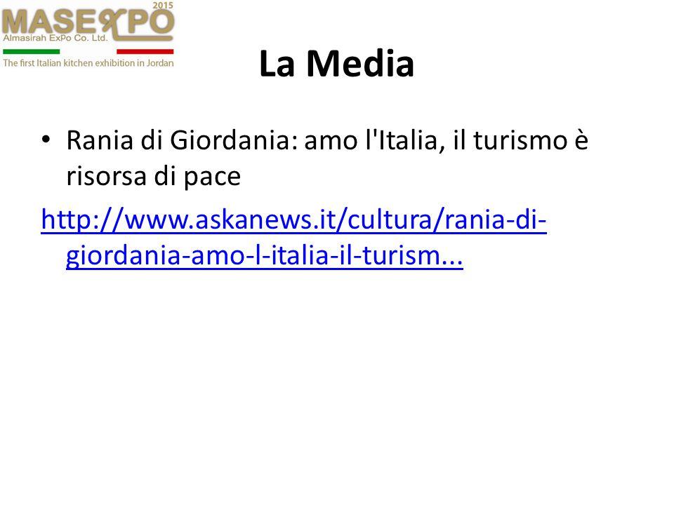 La Media Rania di Giordania: amo l Italia, il turismo è risorsa di pace http://www.askanews.it/cultura/rania-di- giordania-amo-l-italia-il-turism...