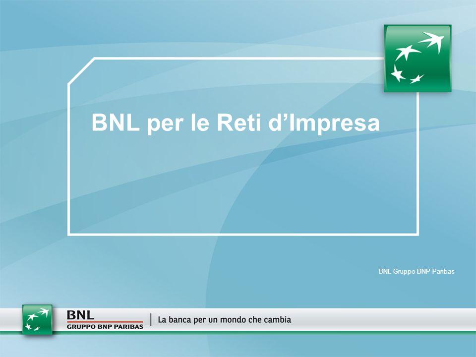 BNL Gruppo BNP Paribas BNL per le Reti d'Impresa