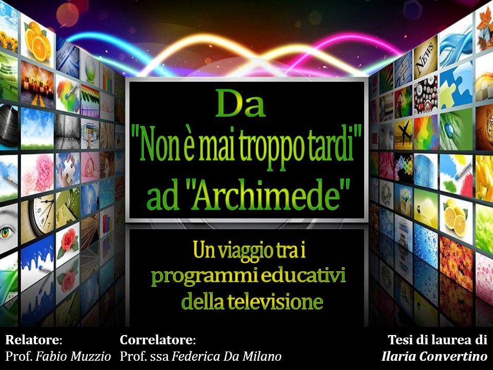 Relatore: Prof.Fabio Muzzio Correlatore: Prof.