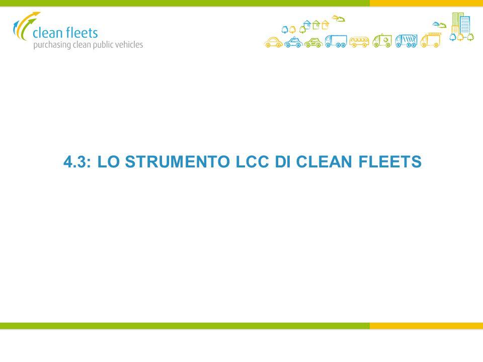 4.3: LO STRUMENTO LCC DI CLEAN FLEETS