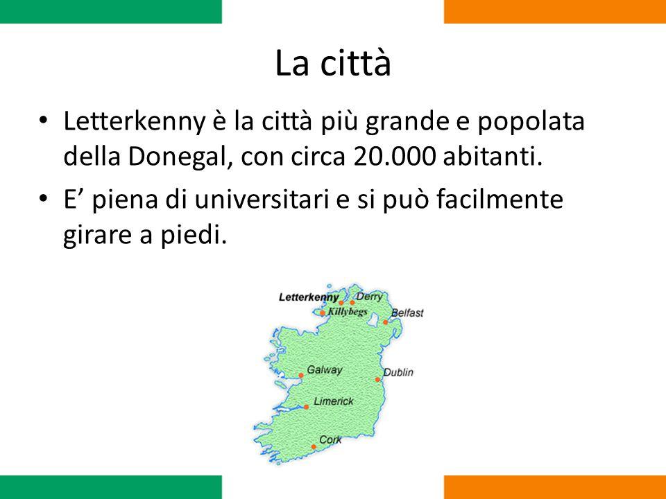 La città Letterkenny è la città più grande e popolata della Donegal, con circa 20.000 abitanti. E' piena di universitari e si può facilmente girare a