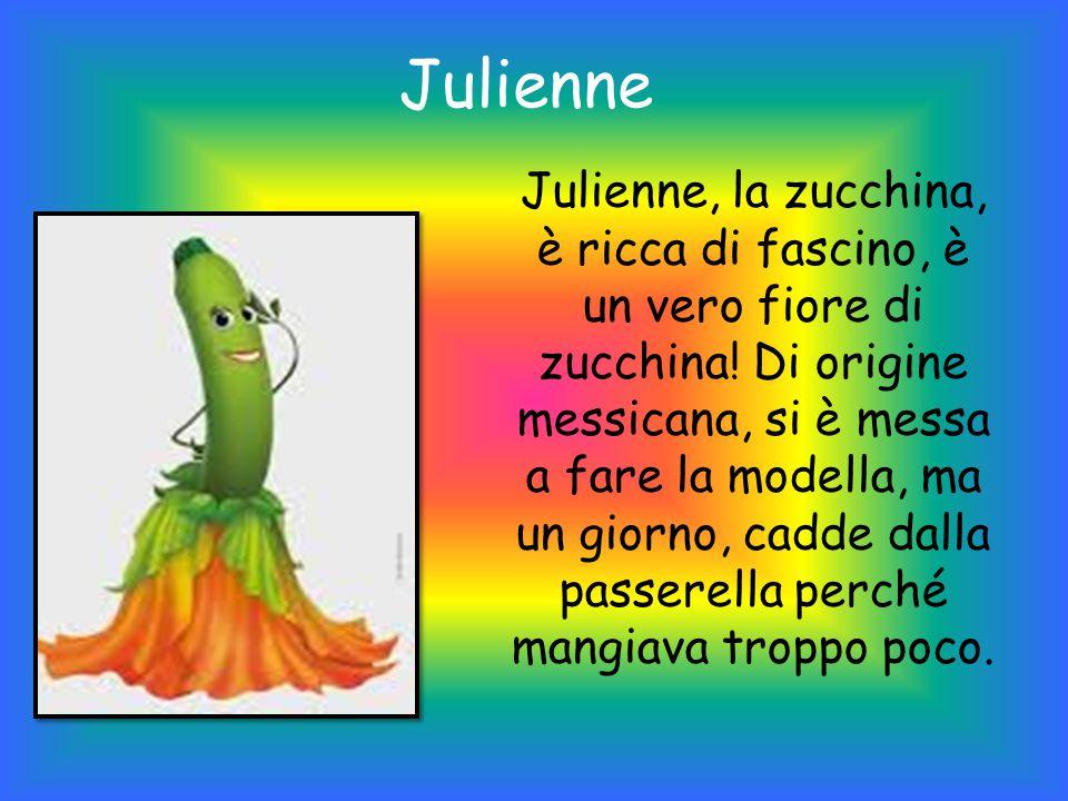 Julienne Julienne, la zucchina, è ricca di fascino, è un vero fiore di zucchina.