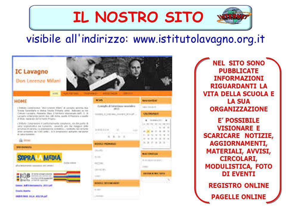 visibile all'indirizzo: www.istitutolavagno.org.it IL NOSTRO SITO NEL SITO SONO PUBBLICATE INFORMAZIONI RIGUARDANTI LA VITA DELLA SCUOLA E LA SUA ORGA