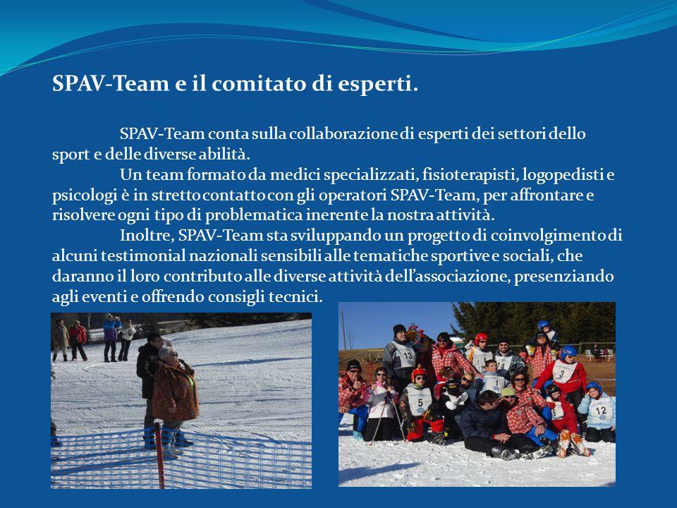 SPAV-Team e il comitato di esperti. SPAV-Team conta sulla collaborazione di esperti dei settori dello sport e delle diverse abilità. Un team formato d