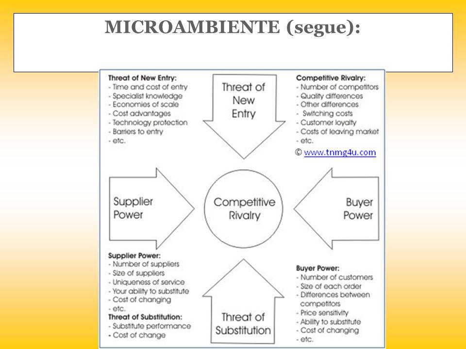 MICROAMBIENTE (segue):