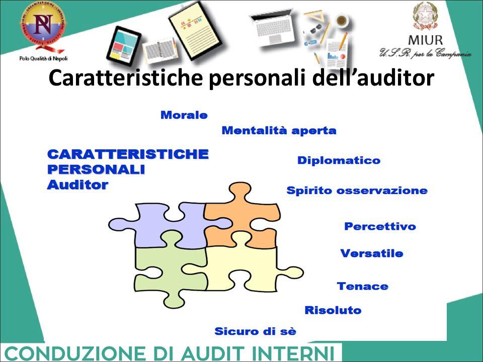 Caratteristiche personali dell'auditor