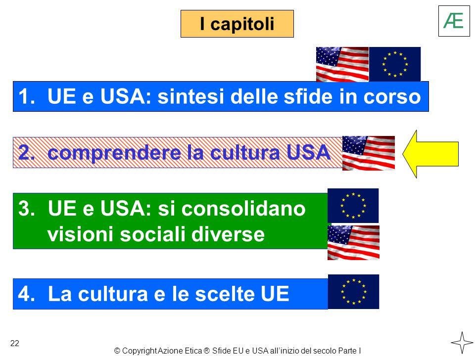 3. UE e USA: si consolidano visioni sociali diverse I capitoli 22 1.
