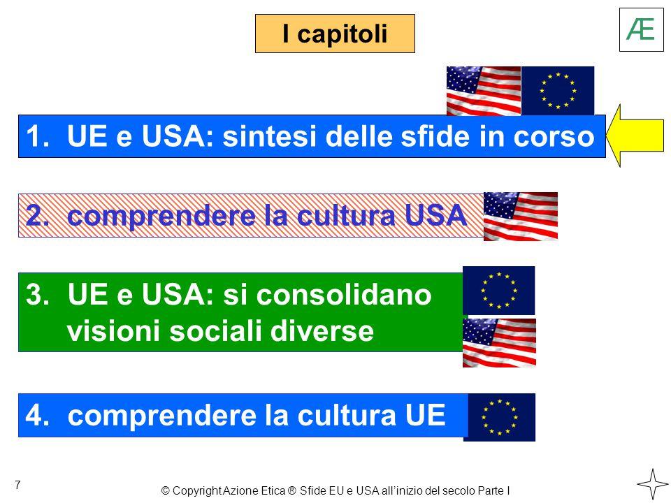 Capitolo 1 Sintesi della sfida UE Sintesi della sfida USA La Post-Modernità Le peculiari esperienze degli Europei Gli Europei accolgono precisi Valori La nuova sfida UE Riuscirà l'UE .