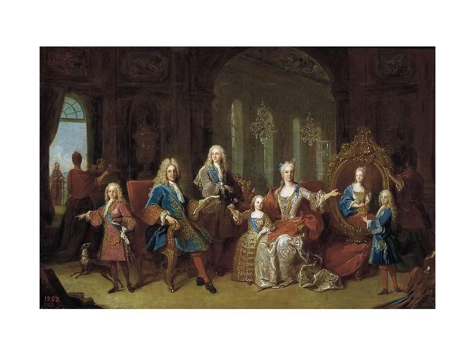 Atto Primo Poi altri ragazzi con parrucca del '700 si siedono in semicerchio come membri dell'Arcadia.