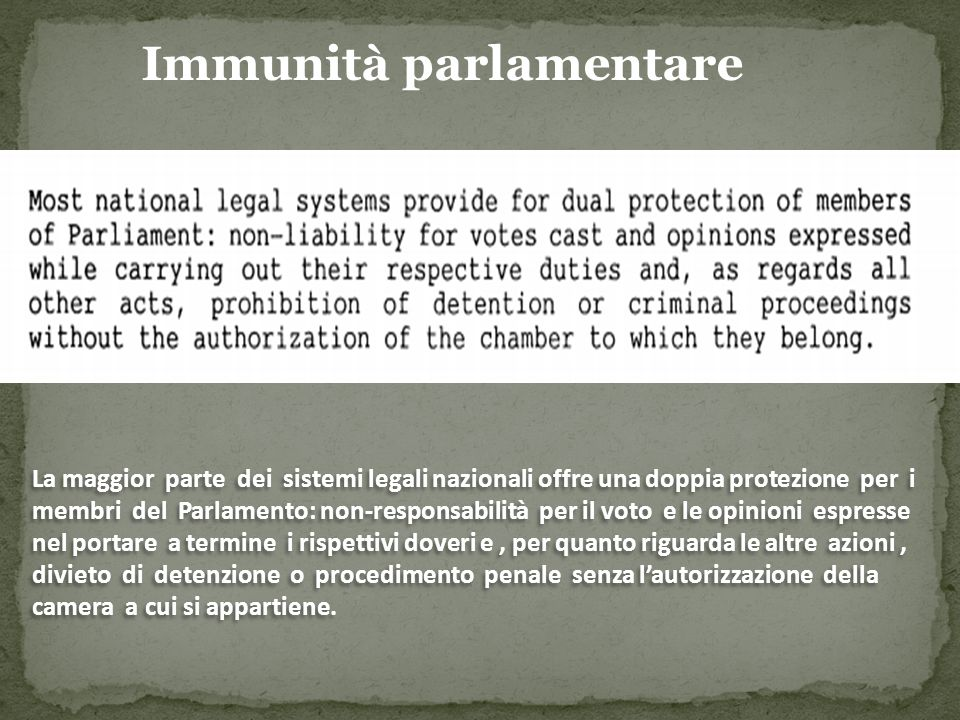 Parliamentary immunity in the UK