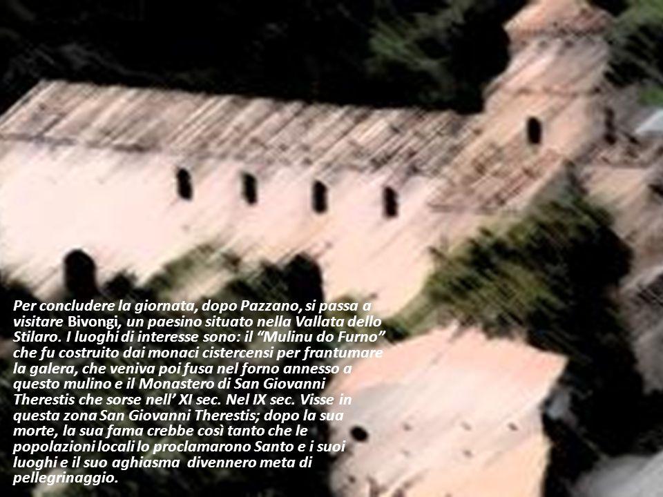 Per concludere la giornata, dopo Pazzano, si passa a visitare Bivongi, un paesino situato nella Vallata dello Stilaro. I luoghi di interesse sono: il