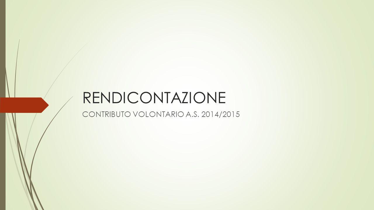 RENDICONTAZIONE CONTRIBUTO VOLONTARIO A.S. 2014/2015